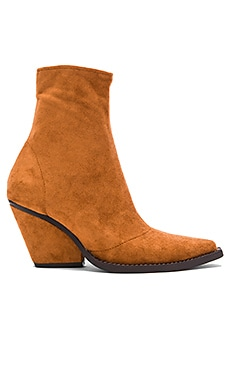 Walton Booties in Tan Suede