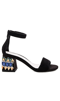 Jeffrey Campbell Fero Jwl Sandals in Black Suede