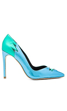 Verge Heels in Green Blue Metallic Combo