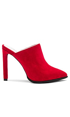 Palatine Heels in Red Suede