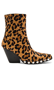 Walton Calf Hair Booties in Brown Leopard