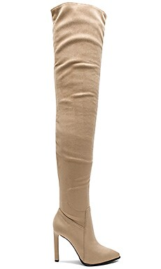 Sherise Boots in Beige Suede