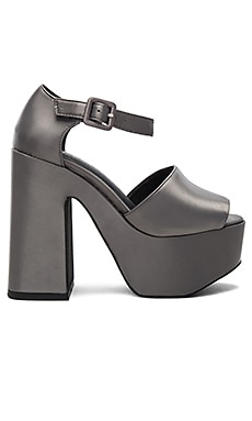 Candice Heels in Grey Satin