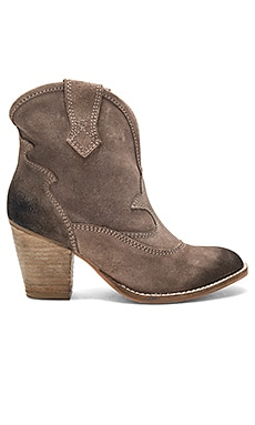 Upland Booties in Taupe Distressed Suede