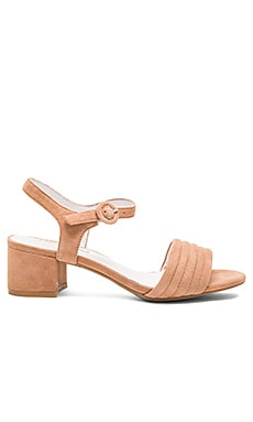 Faye Heel in Blush Suede
