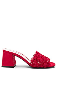 Tiza Heel in Red Suede