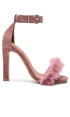 Obus FT Heels with Rabbit Fur in Dusty Rose Suede Combo