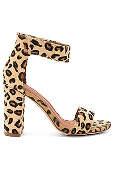 Lindsay Cow Hair Heels in Beige Cheetah