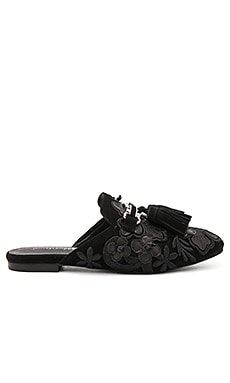 Ravis TSFL Slides in Black Suede Floral
