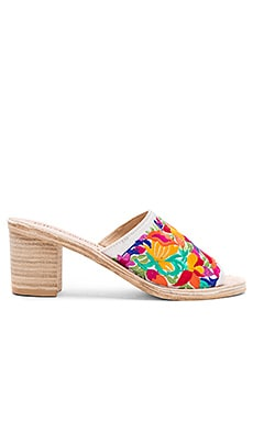 Pushpita Heels in White Multi Combo