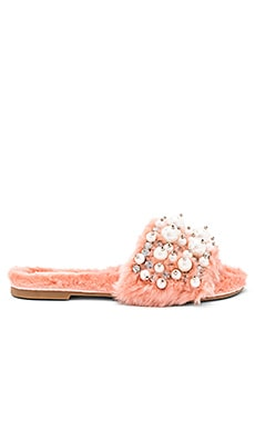 Facil Faux Fur Sandal