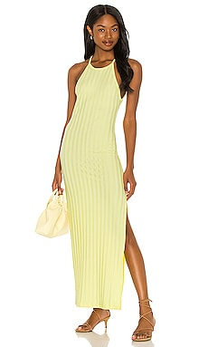 Megan Compact Rib Racer Back Dress JONATHAN SIMKHAI STANDARD $235 NEW