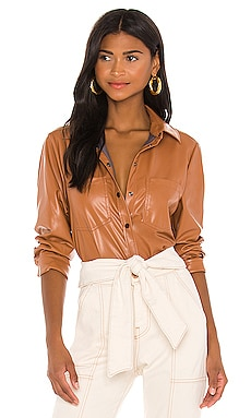 Ryder Pleated Sleeve Shirt JONATHAN SIMKHAI STANDARD $295 Collections