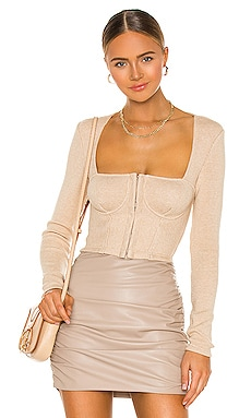 Recycled Rib Bustier Top JONATHAN SIMKHAI STANDARD $225 NEW