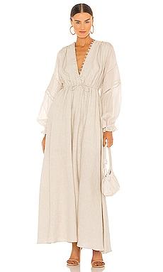 Melinda Linen Maxi Dress Joslin Studio $385