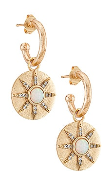 Серьги stargazer - Joy Dravecky Jewelry Золотой фото