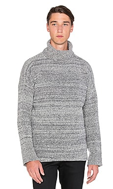 John Elliott + Co Boucle Turtleneck in Melange Grey