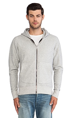 John Elliott + Co Flash Full Zip Hoodie in Grey