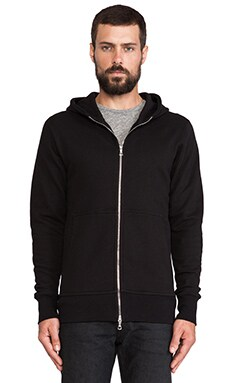 John Elliott + Co Flash Dual Full Zip Hoodie in Black