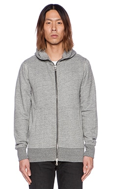 John Elliott + Co Flash Full Zip Hoodie in Grey