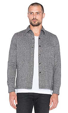 John Elliott + Co Snap Overshirt in Grey & Black