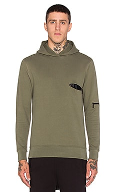 John Elliott + Co Hooded Clash in Army Green