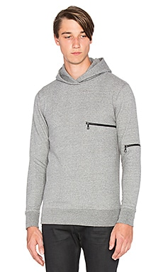 John Elliott + Co Hooded Clash in Dark Grey