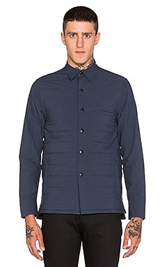 JOHN ELLIOTT Padded Overshirt in Midnight Blue