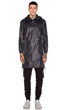 John Elliott + Co Pullover Raincoat in Black