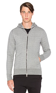 John Elliott + Co Flash Dual Full Zip in Dark Grey