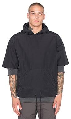 Short Sleeve Nylon Pullover in Black