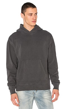 JOHN ELLIOTT Oversized Cropped Hoodie in Washed Black