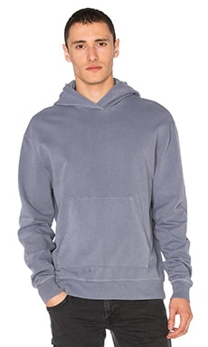 JOHN ELLIOTT Oversized Cropped Hoodie in Washed Navy