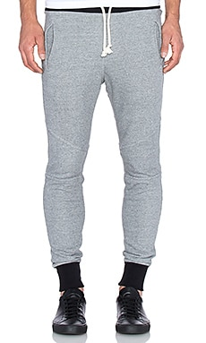 JOHN ELLIOTT Escobar Sweatpant in Dark Grey & Black