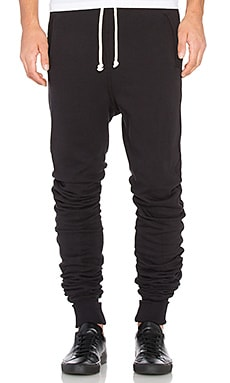 John Elliott + Co Kito Sweatpant in Black