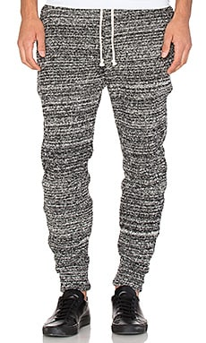 John Elliott + Co Boucle Sweats in Melange Black