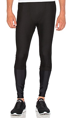 JOHN ELLIOTT Mesh Overlay Tights in Black & Black Mesh