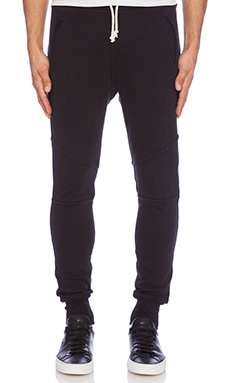 John Elliott + Co Escobar Sweatpant in Black