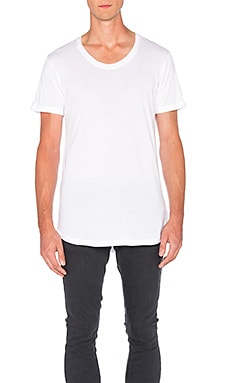 John Elliott + Co Curve U-Neck in White