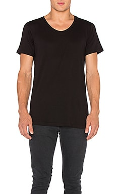 John Elliott + Co Curve U-Neck in Black
