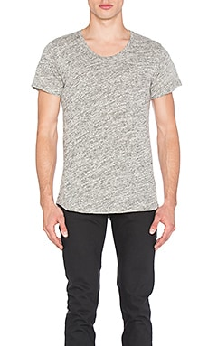 John Elliott + Co Curve U-Neck in Co-Mix Grey