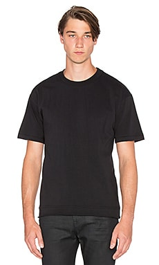 John Elliott + Co Heavy Crop Tee in Black