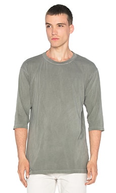 JOHN ELLIOTT Oversized 3/4 Sleeve Tee in Washed Olive