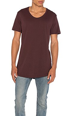 JOHN ELLIOTT Curve U-Neck in Maroon