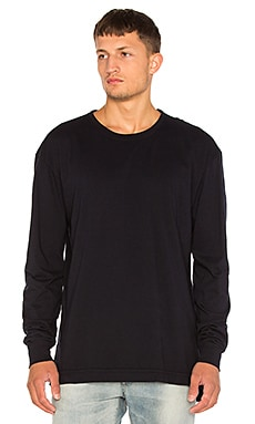 Long Sleeve Mercer Tee in Dark Navy