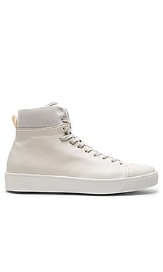 Leather High Top in White