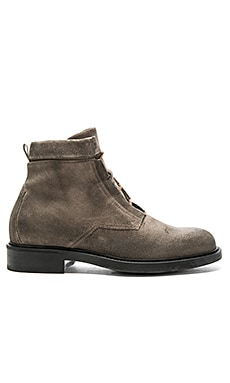 Combat Boot in Waxed Suede Slate