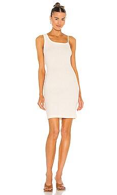 Cotton Rib Asymmetrical Tank Dress JOHN ELLIOTT $228 NEW