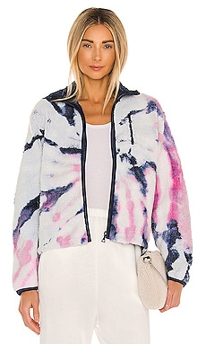 Tie Dye Polar Fleece Zip Up Jacket JOHN ELLIOTT $598 Collections