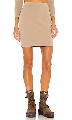 Stretch Sueded Cotton Mini Skirt JOHN ELLIOTT $178